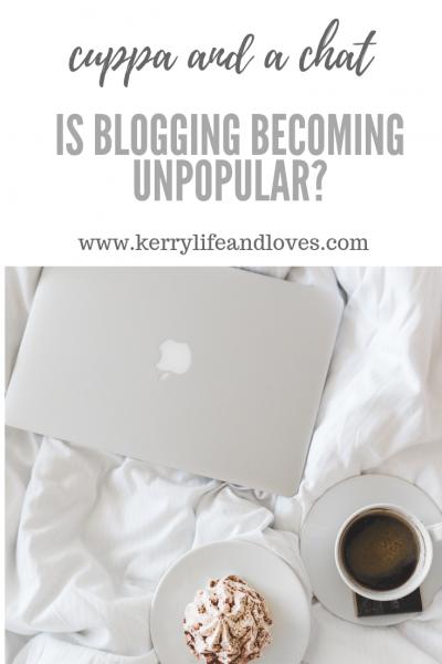 is blogging becoming unpopular