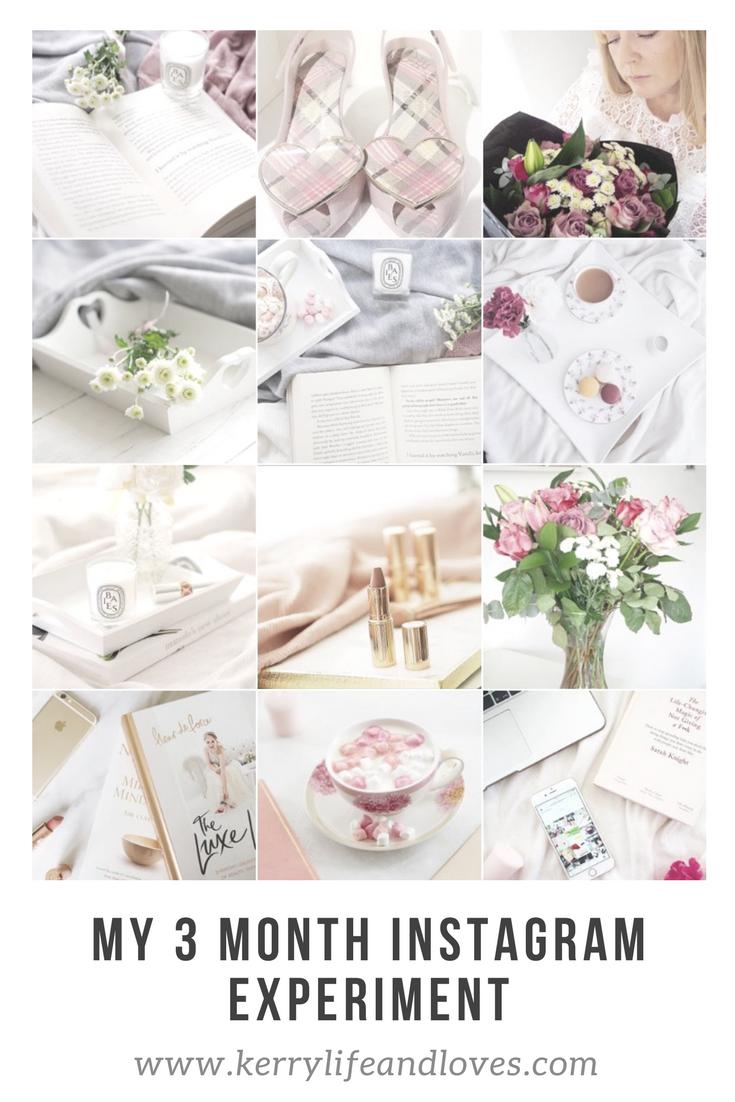 pinterest graphic 3 month instagram experiment