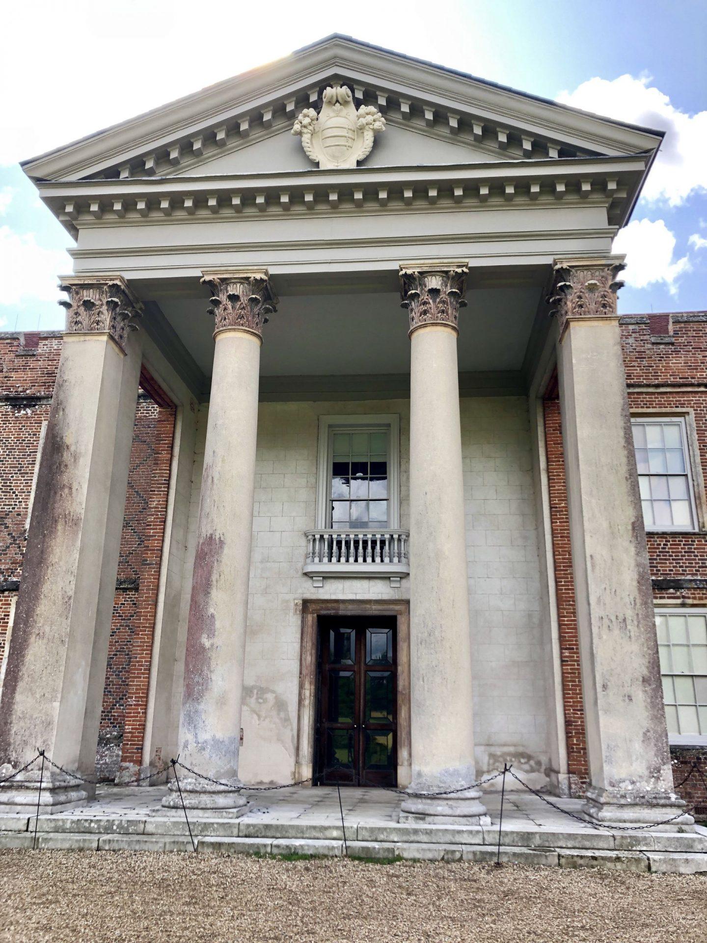 The original entrance to The Vyne